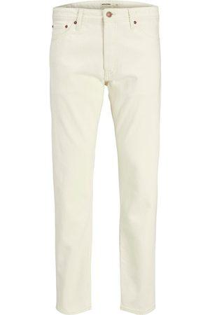 JACK & JONES Mænd Jeans - Chris Original Akm 480 Loose Fit Jeans Mænd White