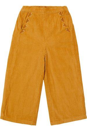 Louise Misha Flor floral cotton corduroy pants