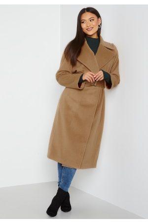 GANT Kvinder Vinterfrakker - Wool Blend Belted Coat 213 Warm Khaki