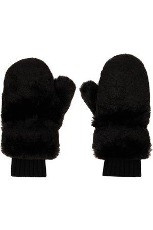 Givenchy Kvinder Handsker - Black Faux-Fur Mittens