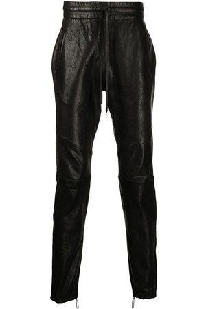 JOHN ELLIOTT Mænd Slim bukser - Læderbukser med snoretræk