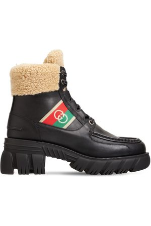 Gucci 40mm Romance Leather Combat Boots