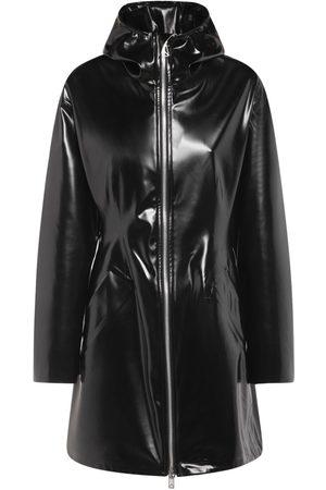 Bottega Veneta Hooded Rubber Parka Coat