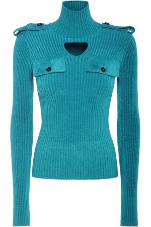 Bottega Veneta Ribbed Velvet Turtleneck Sweater