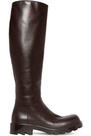 Bottega Veneta 35mm Strut Leather Tall Boots