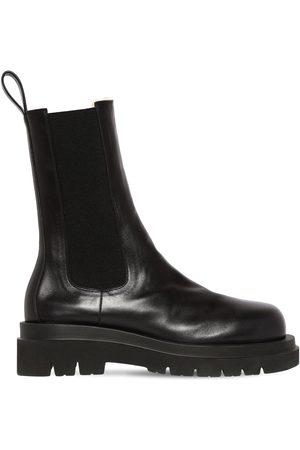 Bottega Veneta 55mm Bv Lug Leather Boots W/ Shearling