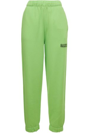 GANNI Elasticated Recycled Cotton Blend Pants