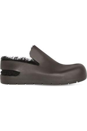 Bottega Veneta Puddle Rubber & Shearling Sandal