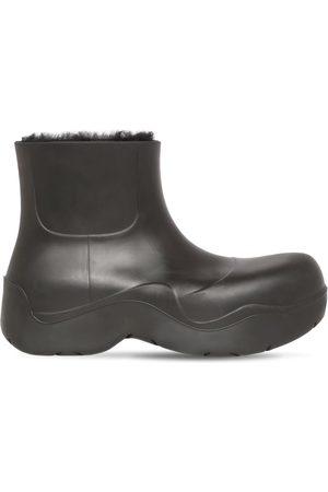 Bottega Veneta Puddle Rubber & Shearling Ankle Boot