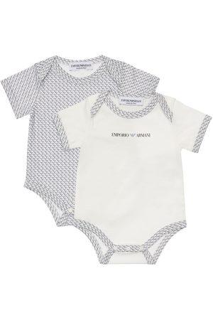 Emporio Armani Set Of 2 Cotton Jersey Bodysuits