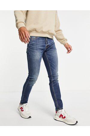 Topman Mellemvaskede skinny-jeans med stretch i økologisk bomuldsblanding