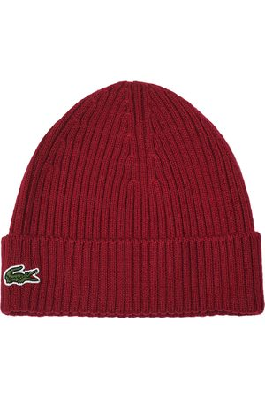 Lacoste Mænd Huer - Knitted Beanie Bordeaux