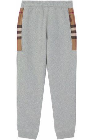 Burberry Mænd Joggingbukser - Check-panel track pants