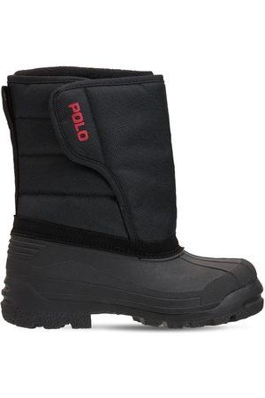 Ralph Lauren Drenge Vinterstøvler - Logo Nylon Canvas Snow Boots