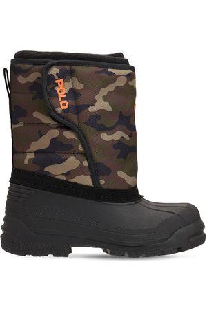 Ralph Lauren Drenge Vinterstøvler - Camo Nylon Canvas Snow Boots
