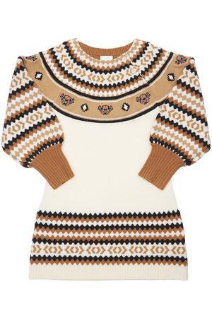 Burberry Kvinder Strikkede kjoler - Intarsia Wool Blend Knit Dress