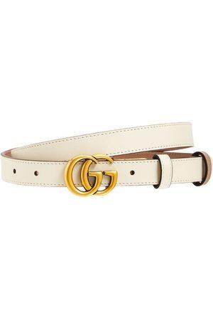Gucci Kvinder Bælter - 2cm Gg Marmont Reversible Thin Belt