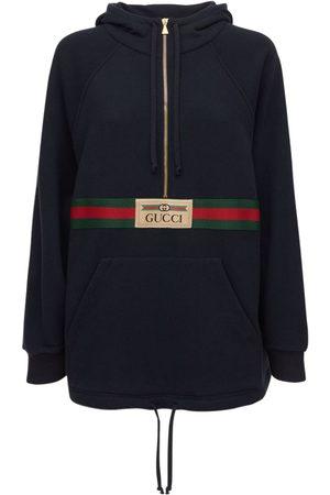 Gucci Felted Cotton Jersey Mini Sweatdress