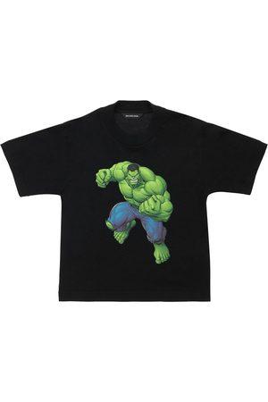 Balenciaga Hulk Print Cotton Jersey T-shirt
