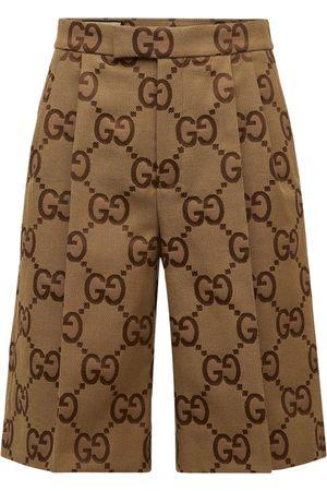 Gucci Jumbo Gg Canvas Shorts