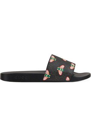 Gucci Bee Print Slide Sandals