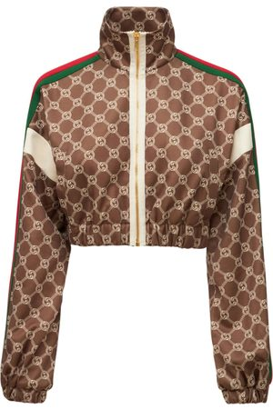 Gucci Technical Jersey Logo Cropped Jacket