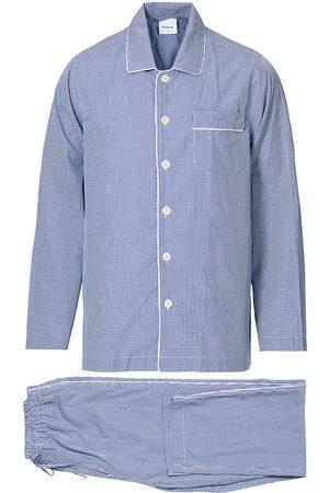 Nufferton Alf Checked Pyjama Set Blue/White