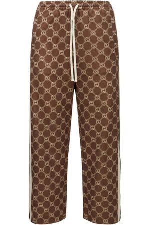 Gucci Kvinder Habitbukser - Technical Jersey Logo Casual Pants