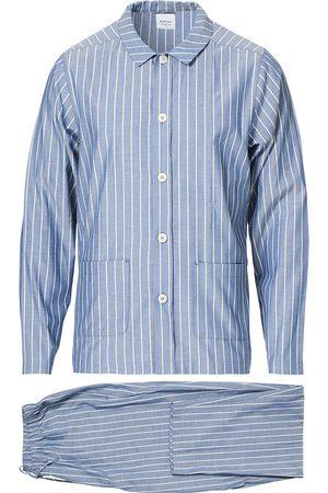 Nufferton Mænd Pyjamas - Uno Mini Stripe Pyjama Set Navy/White