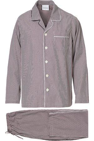 Nufferton Mænd Pyjamas - Alf Checked Pyjama Set Brown/White