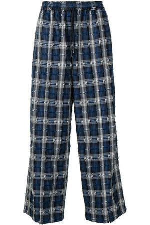 Off-Duty Mænd Kassebukser - Teksturerede bukser med brede ben