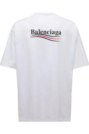 Balenciaga Mænd Kortærmede - Political Logo Cotton Jersey T-shirt