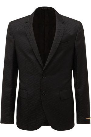 VERSACE Monogram Jacquard Wool Blend Jacket