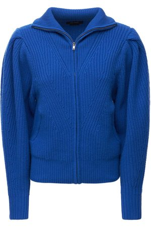 Isabel Marant Abby Wool Blend Knit Zip-up Sweater