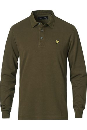 Lyle & Scott Mænd Poloer - LS Brushed Collar Polo Shirt Olive