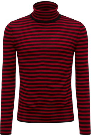 Saint Laurent Mænd Strik - High Collar Wool Sweater