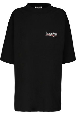 Balenciaga Oversize Political Logo Jersey T-shirt