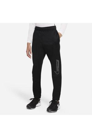 Nike Drenge Træningsbukser - Faconsyede Therma-FIT-træningsbukser med grafik til større børn (drenge)