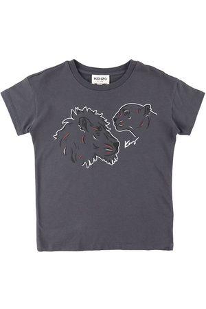 Kenzo Kortærmede - T-Shirt - Dark Grey m. Tryk