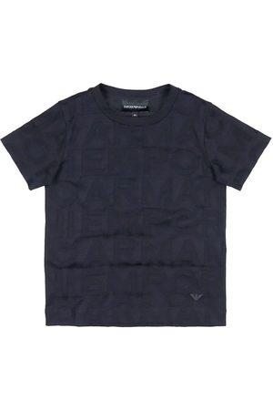Emporio Armani Kortærmede - T-shirt - Navy m. Tekst
