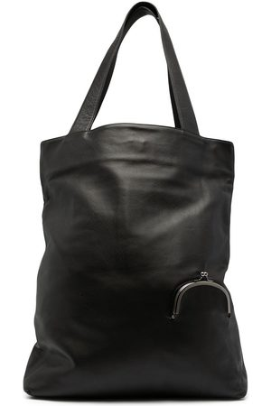 YOHJI YAMAMOTO Skuldertaske i læder med taskedetalje