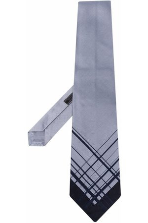 Prada Silkeslips med diagonale striber fra 1990'erne