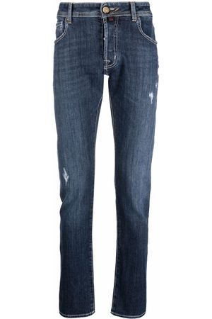 Jacob Cohen Jeans med slitageeffekt og smal pasform