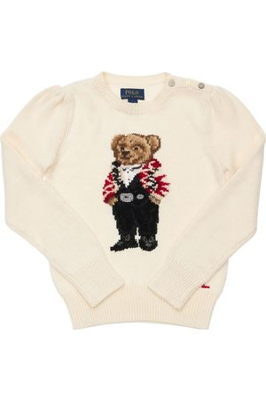 Ralph Lauren Piger Strik - Bear Intarsia Cotton Knit Sweater
