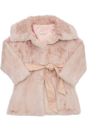 MONNALISA Piger Vinterfrakker - Faux Fur Coat W/ Belt