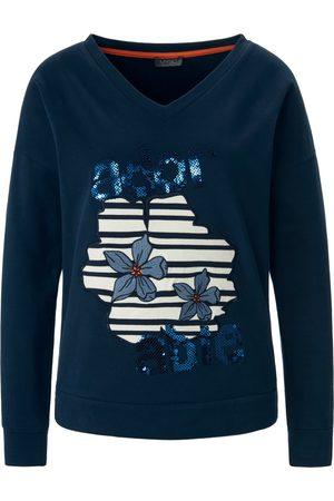 Mybc Sweatshirt let overskårne skuldre Fra blå