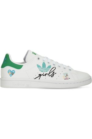 adidas Piger Sneakers - Stan Smith Leather Lace-up Sneakers