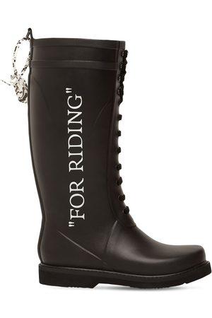 OFF-WHITE Kvinder Gummistøvler - 20mm Leather & Rubber Rain Boots