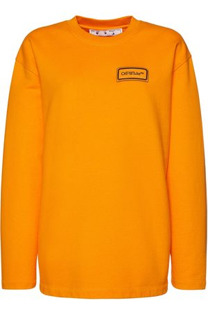 OFF-WHITE Logo Patch Over Jersey Sweatshirt