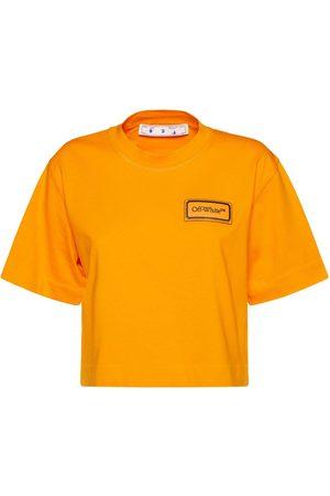 OFF-WHITE Kvinder Kortærmede - Logo Patch Crop Jersey T-shirt